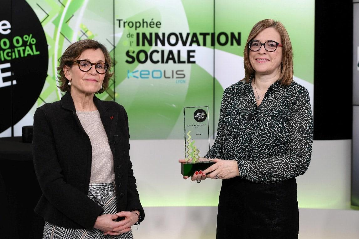 Trophée innovation sociale 2021 Isabelle Moyon Awaker Lyon